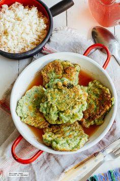 Pastelitos fritos de brócoli. Receta vegetariana fácil