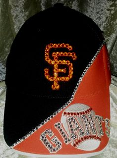 20ac1829f SF Giants Licensed MLB hat is custom blinged for all the ladies who love  their Giants!  70 Like Blingy Thingys on FaceBook!