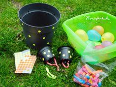 Upcyclingideen für den Kindergeburtstag, Teil 2 - Honigkukuk Party Activities, Summer Activities, Toddler Activities, Party Games, Toddler Crafts, Crafts For Kids, Crab Crafts, Toilet Roll Craft, Pokemon Craft
