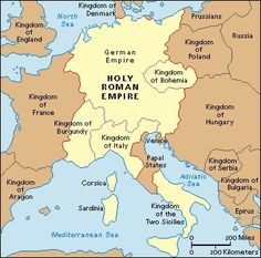 The Holy Roman Empire, was a union of territories in Central Europe. during the Middle Ages and the Early Modern period. under a Holy Roman Emperor who submitted to the Pope Roman History, European History, World History, Ancient History, American History, Family History, Ancient Aliens, European Map, Kingdom Of Bohemia