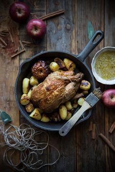 Pollo arrosto con le mele - ph by Ilaria Guidi