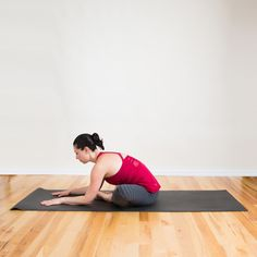 Here's a great pose to end with that will stretch out the hips and lower back.   Sit with both knees bent, ...
