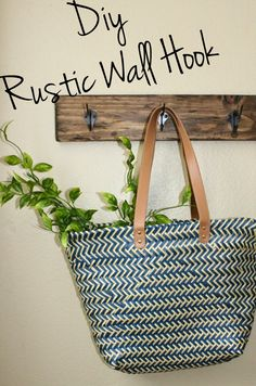 DIY Rustic Hook Decor: simple and easy for an level DIYer. This Diy will show you  how to make new wood look old... And how to make a super cute Rustic Wall Hook.