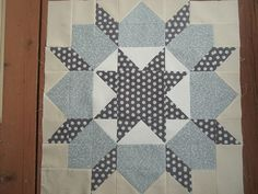 2nd Swoon block with Hometown by Sweetwater fabrics | Flickr - Photo Sharing! white in the center!