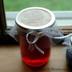 Raspberry Honey Jelly Recipe- making jams with honey instead of sugar