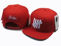 UNDEFEATED Snapback Hats Red|only US$6.00 - follow me to pick up couopons.