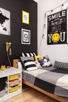 Bedroom Setup, Boys Bedroom Decor, Room Ideas Bedroom, Home Bedroom, Tiny Bedroom Design, Girl Bedroom Designs, Small Room Interior, Boy Room, Kids Room