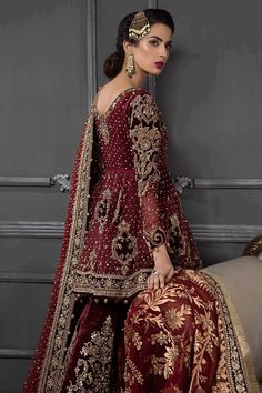 Maria b uk wedding suits pakistani designer wear house of faiza maria b uk wedding suits pakistani designer wear house of faiza Indian Bridal Outfits, Pakistani Wedding Outfits, Pakistani Wedding Dresses, Pakistani Dress Design, Indian Dresses, Desi Wedding Dresses, Asian Wedding Dress, Wedding Suits, Wedding Themes