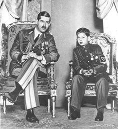 King Carol II of Romania and his son Crown Prince Michael Romanian Royal Family, German Royal Family, Royal Family News, Royal Families, Queen Mary, King Queen, Michael I Of Romania, Royal Photography, Royal House