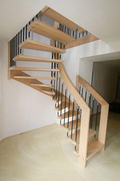 escalier moderne : île RENA suspendu #EscaliersPOTIER