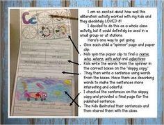 Alliteration-Alive-2-Spin-a-Sentence-Activity-Teach-Kids-About-Alliteration-1209078 Teaching Resources - TeachersPayTeachers.com