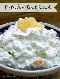 Pistachio Fruit Salad Recipe Desserts, Salads with cool whip, cottage cheese, instant pudding Pistachio Fluff, Best Fruit Salad, Pistachio Pudding, Watergate Salad Recipes, Fruit Salad Recipes, Dessert Recipes, Fruit Salads, Jello Salads, Healthy Recipes