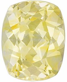 Genuine Yellow Sapphire Loose Gemstone, Cushion Cut, 6.6 x 5.2 mm, 1.13 Carats at BitCoin Gems