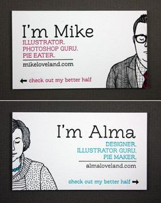 Mike Loveland / Alma Loveland super cool business cards - #GraphicDesign #Illustration #Inspiration