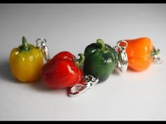 Charm Sized Bell Pepper Tutorial, Polymer Clay Miniature Food - YouTube