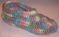 Easy One-Piece Slippers- I liked the way this one is worked, it would eliminate that annoying pointy 'elf' toe.