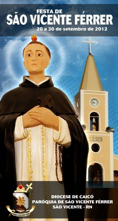 Capa da Programação da Festa de S. Vicente Férrer - 2012 - São Vicente-RN