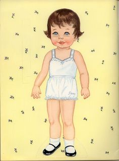 Yesterday I posted the first half of this paper doll book, now here is the second half. I think the little girl above is the 2 year old, the boy is the 1-1/2 year old, the sleeping baby from last n...