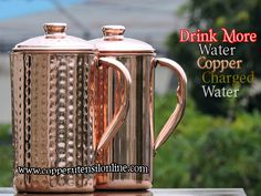 Shop for an Exclusive Variety of Pure Copper Water Jugs at Best Price. Copper Vessel, Copper Cups, Pure Copper, Water Jugs, Water Bottles, Copper Toxicity, Copper Utensils, Acidic Foods