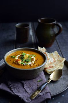 Fragrant Spiced Indian Vegetable and Lentil Soup ~ Fragrant with cumin, turmeric, ginger, garam masala and a hint of chilli, it is a fabulously healthy winter treat.