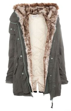 PARKA WITH FUR HOOD - NEW PRODUCTS - WOMAN - PULL Panama