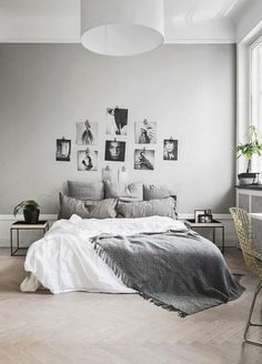 4 Bliss Cool Tips: Minimalist Bedroom Men House french minimalist decor glass doors.Minimalist Home Design Minimalism minimalist bedroom diy plants.Minimalist Home With Children Living Rooms. Bedroom Decor On A Budget, Apartment Decorating On A Budget, Home Decor Bedroom, Bedroom Wall, Bed Room, White Bedroom, Small Bedroom Ideas On A Budget, Grey Bedroom Design, Simple Bedroom Decor