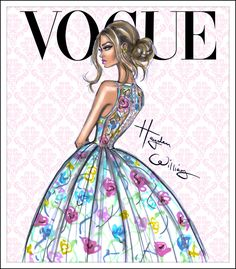 Hayden Williams Fashion Illustrations | 'Floral Fantasy' by Hayden Williams