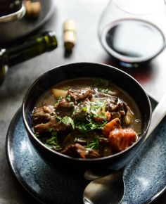 This sure looks like some kicked up stew  Cabernet Braised Short Rib Beef Stew I howsweeteats.com