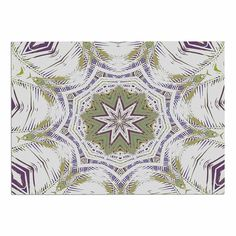 Kess InHouse Frederic Levy-Hadida Tenderness White Purple Shower Curtain 69 by 70