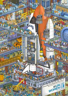 Where's Wally-style ad campaign highlights lack of women in the Egyptian workforce Pixel Art, Wheres Wally, Best Workplace, Catalogue Design, Isometric Art, Design Museum, Print Ads, Designs To Draw, Oeuvre D'art