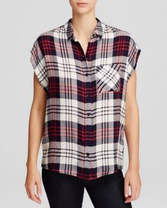 Wayf Sleeveless Plaid Shirt | Bloomingdale's