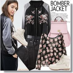 Bomber jacket by jenny007-281 on Polyvore featuring BRAX, Timberland and Dolce&Gabbana