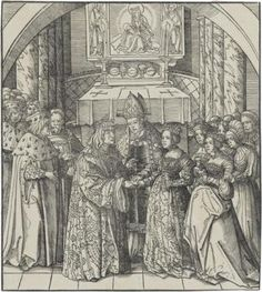 The Marriage of the White King and the Princess of Feuereisen, 1514-1516, Leonhard Beck