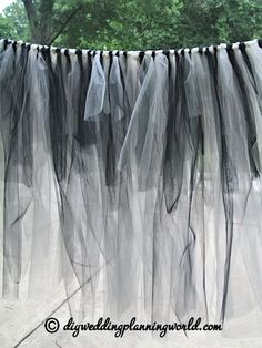 DIY Gothic Tulle Skirt for the Cake Table - Part 3   DIY Wedding Planning: