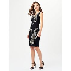 Buy Phase Eight Gracie Dress, Black/Oyster Online at johnlewis.com