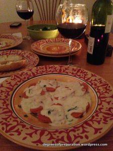 Crab Ravioli and White Wine Cream Sauce.  Recipes for homemade crab ravioli filling and a cheesy white wine cream sauce.