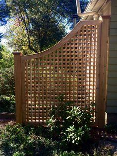 Cedar Greenwich Square Lattice Fence Panel - Atlas Outdoor Diy Pergola, Small Pergola, Backyard Privacy, Wooden Pergola, Backyard Fences, Pergola Shade, Backyard Landscaping, Pergola Ideas, Landscaping Ideas
