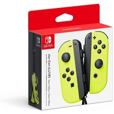 Nintendo Joy-Con (L/R) - Neon Yellow *** Details can be found by clicking on the image. (This is an affiliate link) #VideoGames