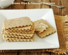 I decided to use brown rice flour with ground flaxseeds for extra nutrients and I added a small amount of maple syrup for flavor. The crackers had the perfect crunch as traditional crackers, we were very pleased with the outcome including Daevyd.