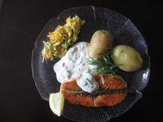 Kermaviilikastike kalalle Kotikokki.netin nimimerkki Mummo07:n tapaan New Kitchen, Baked Potato, Potatoes, Eggs, Baking, Breakfast, Ethnic Recipes, Koti, Drinks