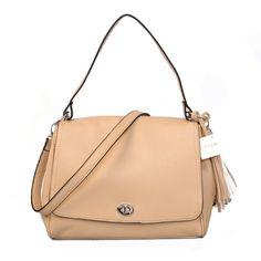 Coach Turnlock Medium Apricot Shoulder Bags AYR
