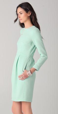 KATIE ERMILIO Green Tiffany Mini Dress