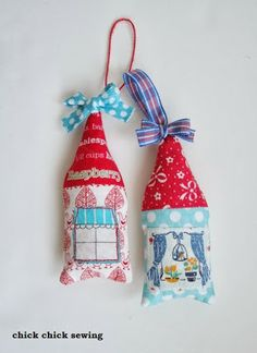 chick chick sewing: House Ornaments ☆ おうちのクリスマス飾り