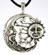 Celestial Howling Moon  Amulet Pendant by sherrishempdesigns, $8.99