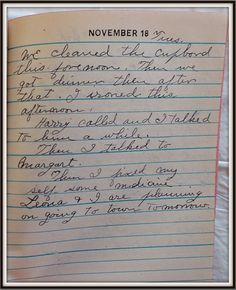 Vintage Johnstown: November 18, 1947: Diary of a Johnstown Housewife
