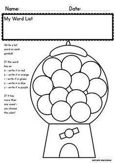 SPELLING / WORD WORK WORKSHEETS - FOR ANY LIST! - TeachersPayTeachers.com