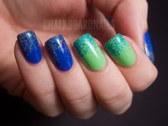 love the gradient effect and colors...Sarah from @ChalkboardNails does the most amazing nails out there!