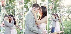 Vintique Rentals, Visual Lyrics Florals, Romantic Swing Engagement session