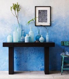 #Decorating #idea, Bring a Bit of Barcelona Home with a DIY Ombré Wall