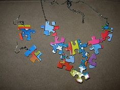 Puzzle piece jewelry! :D
